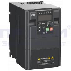 Преобразователь частоты A150 380В 3ф 2.2кВт 6А встроенный торм. модуль ONI A150-33-22NT