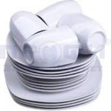 Набор столовый Lorain 12пр 4пер белый фарфор (тарелки 24.1/19/20.3см) в/кор/