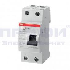 Выключатель диф.тока 2п 25А 30мА тип АС FH202 ABB (2CSF202004R1250)