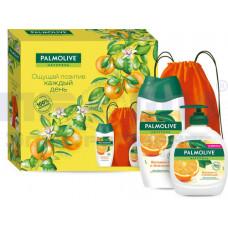 Набор подарочн Palmolive Натурель Витамин С и Апельсин(гель д/д+мыло90г+спорт.сумка)