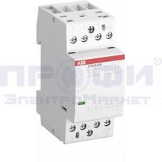 Контактор ESB25-40N-06 модульный (25А АС-1 4НО) катушка 230В AC/DC