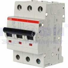 Выключатель авт. мод. 3п C 80А S203 6кА ABB 2CDS253001R0804