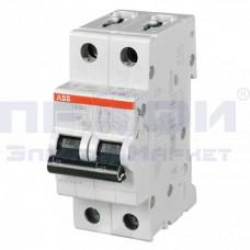 Выключатель автоматический двухполюсный 10А С SH202L 4.5кА (2CDS242001R0104)
