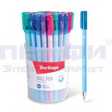 Ручка шар син автом Berlingo Starlight 0.7мм/РфЦ/