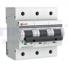 Автоматический выключатель ВА 47-125 3п С  125А ЭКФ