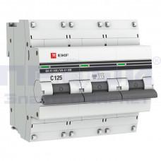 Автоматический выключатель ВА 47-100 3п D  125А ЭКФ