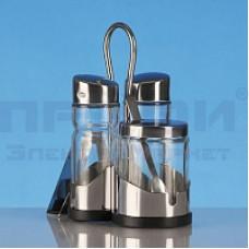 Набор для специй стекло,металл на подставке 789-8700