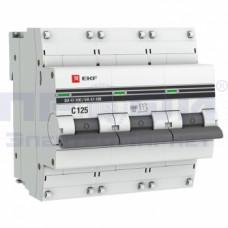 Автоматический выключатель ВА 47-100 3п С  125А ЭКФ