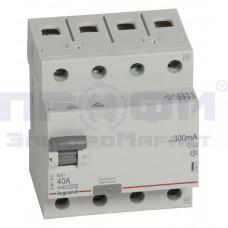 Выключатель диф.тока 4п 40А 300мА тип АС RX3 Leg 402071