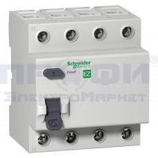 Выключатель диф.тока 4п 25А 30мА тип АС EASY9 SchE EZ9R34425