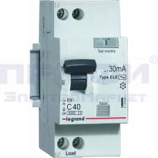 Выключатель авт. диф. тока 1п (1P+N) C 6A 30mA тип АС 6кА RX3 Leg 419396